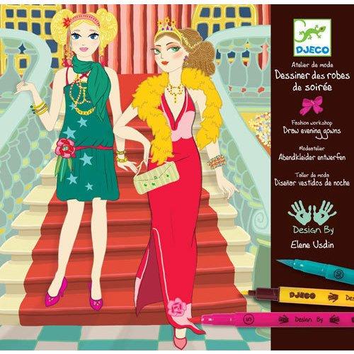 Набор для творчества-раскраска «Вечерние платья»