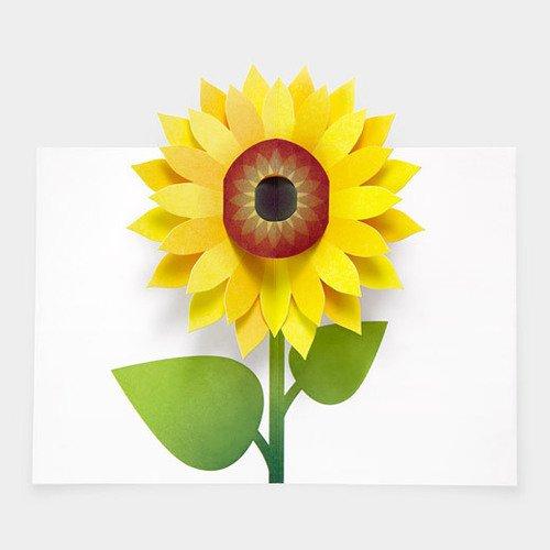 "Набор открыток ""Sabuda Pop-Up Sunflower"""