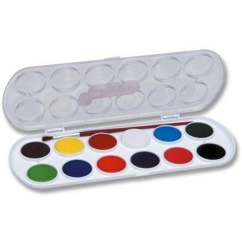Акварель с кистью, 12 цветов printio акварельные краски