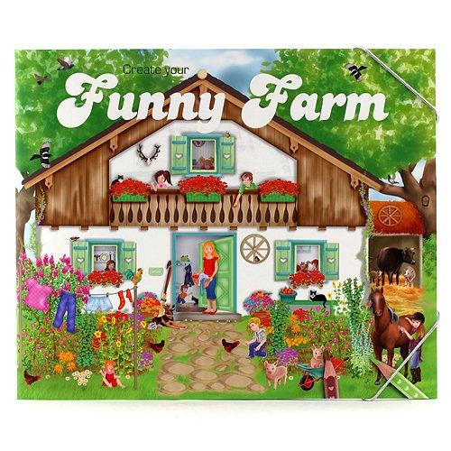 """Книга с наклейками """"Create Your Funny Farm"""""""