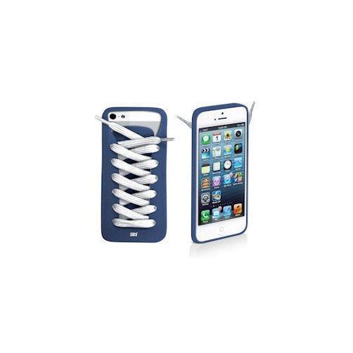 """лучшая цена Чехол для iPhone 5 """"Шнуровка"""" голубой"""