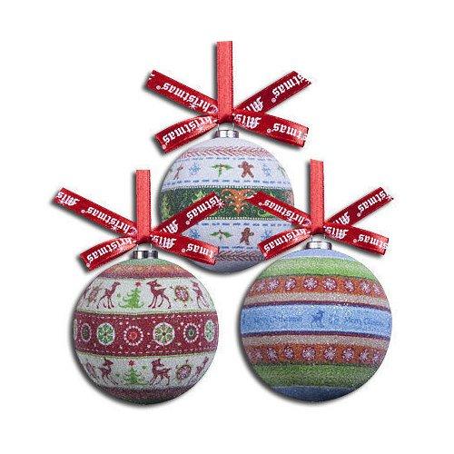 Набор шаров Папье-маше, 75 мм, 6 шт. украшение новогоднее подвесное mister christmas папье маше диаметр 7 5 см pm 15 1t