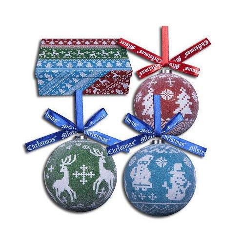 Набор шаров Папье-маше, 7,5 см, 6 шт. украшение новогоднее подвесное mister christmas папье маше диаметр 7 5 см pm 15 1t