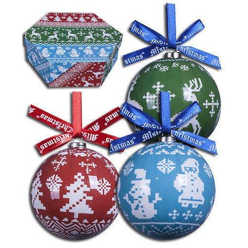 Набор шаров Папье-маше, 75 мм, 7 шт. украшение новогоднее подвесное mister christmas папье маше диаметр 7 5 см pm 15 1t