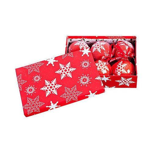 Фото - Набор шаров Папье-маше, 7,5 см, 6 шт. набор елочных шаров магия праздника ny032 красно белый диаметр 6 см 12 шт