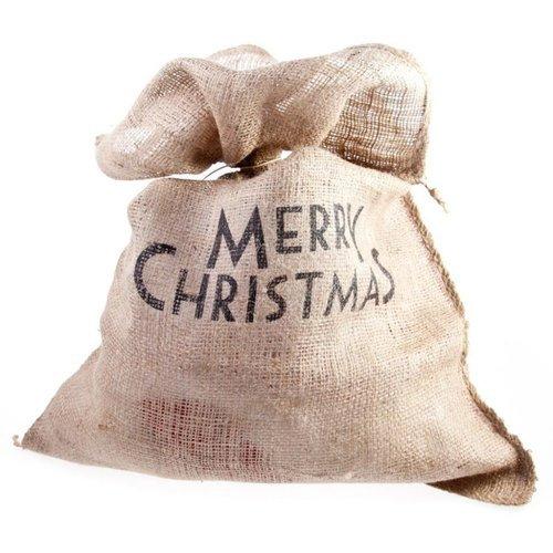Мешок для подарков, льняной