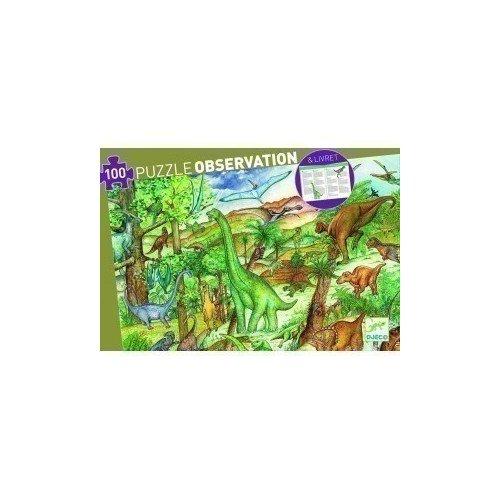 Пазл на наблюдательность Динозавры, 100 элементов djeco пазл для малышей динозавры