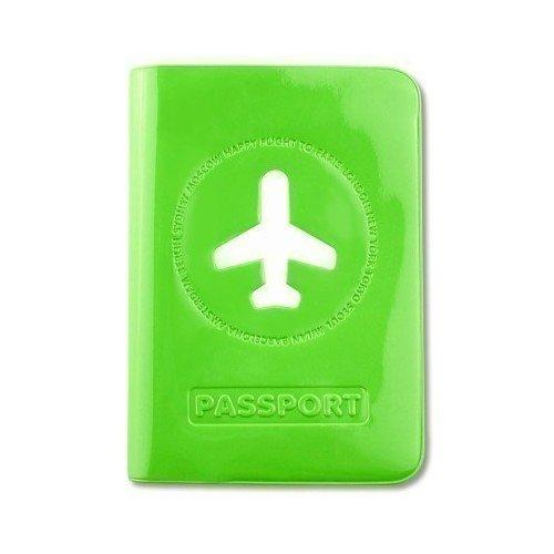 """Обложка для загранпаспорта """"Happy Flight"""", зеленая"""
