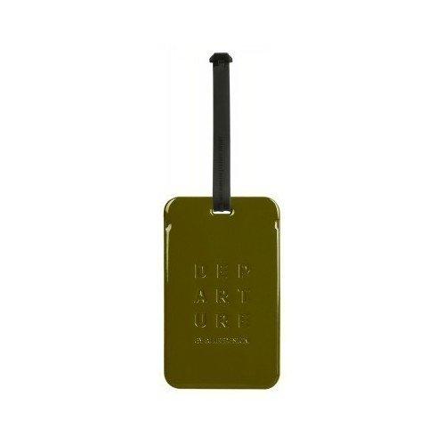 Бирка для багажа DA-003, оливковая бирка для багажа da 003 серая