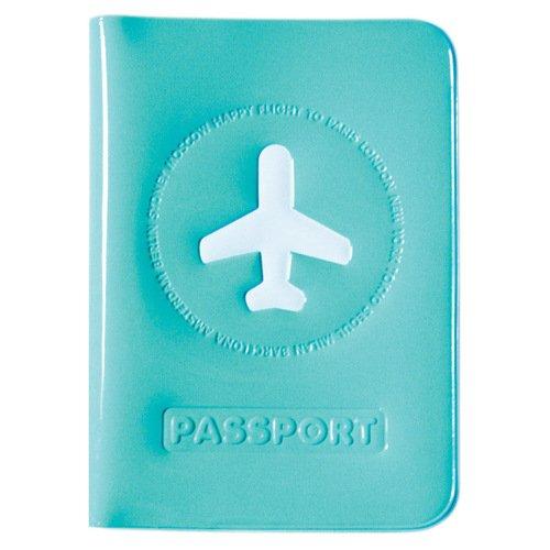 """Обложка для загранпаспорта """"Happy Flight"""", голубая"""