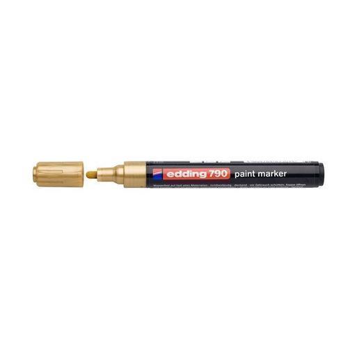 Декоративный маркер, золотой маркер для текстиля edding ярко красный наконечник круглой формы толщина линии 3мм e 4500