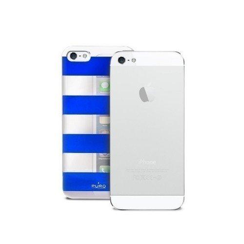 "Чехол для iPhone 5 ""Stripe Cover"" сине-серебряный цена 2017"