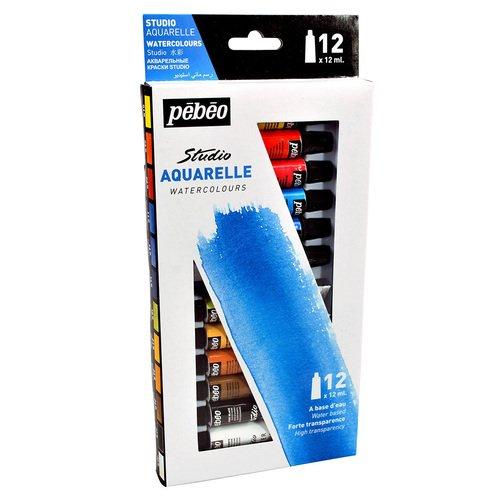 Набор акварельных красок Studio New, 12 туб акварельные карандаши colour pencils с кисточкой набор цветов в картонной коробке 12 шт