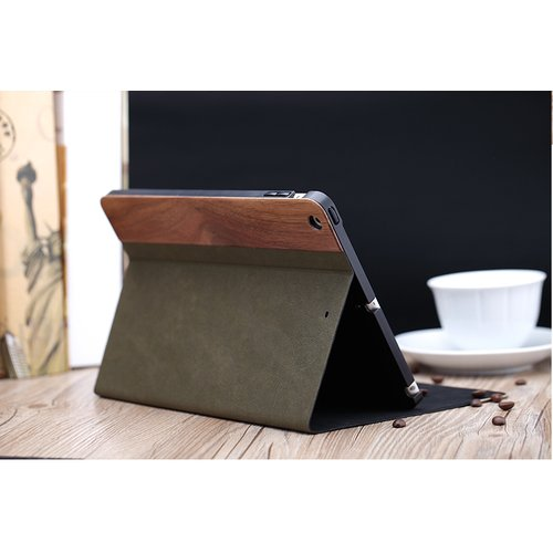 Чехол Woody Side Flip Green для iPad Air