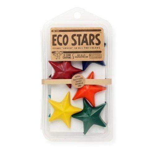 Набор мелков Eco-Stars, 10 цветов carioca набор крупных пластиковых мелков plastello maxi 12 цветов