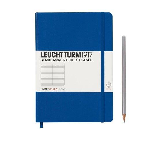 Блокнот Medium, в линейку, синий блокнот b5 123 стр в линейку