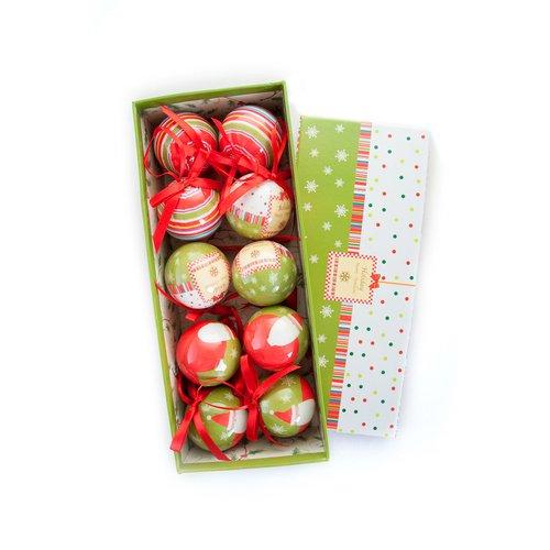 """Новогодние шары """"Зелено-красные"""""""