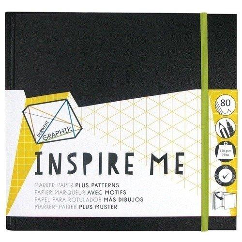 Альбом для маркеров с резинкой и карманом Inspire Me, черный emerald de young inspire me
