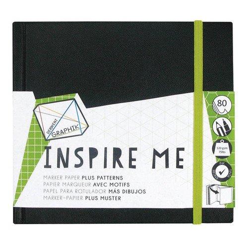 """Альбом для маркеров с резинкой и карманом """"Inspire Me"""", черный"""