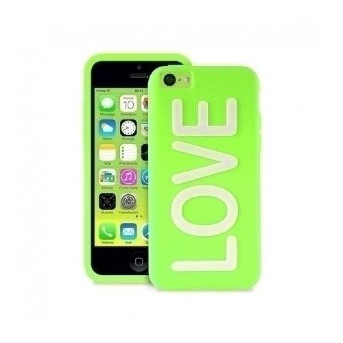 """Чехол для iPhone 5С """"Love"""" зеленый цена 2017"""