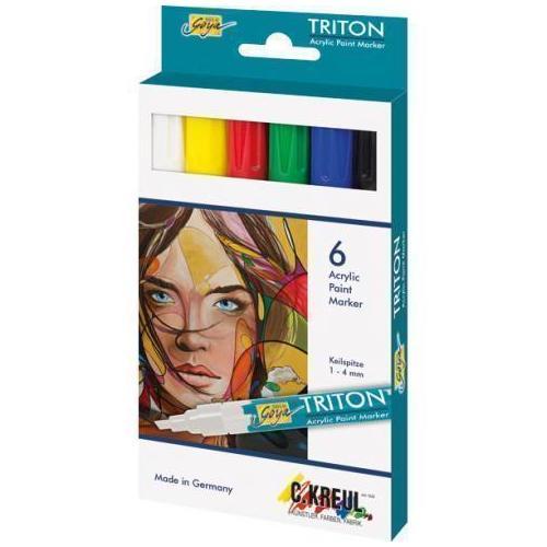 цена на Набор акриловых маркеров Triton, 6 цветов