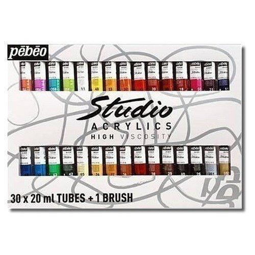 Набор акриловых красок Studio Acrylics 30 туб free shipping france pebeo 20 colors acrylic paints studio pigment set with1 brush 20 tubes x 20ml professional high viscosity
