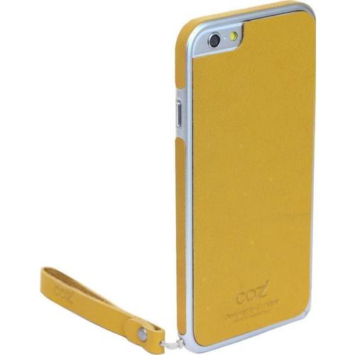 "Бампер со стикером ""Leather Skin Bumper"" для iPhone 6 желтая кожа"