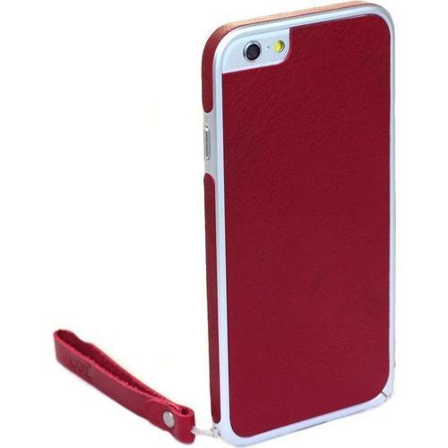 "Бампер со стикером ""Leather Skin Bumper"" для iPhone 6 красная кожа"