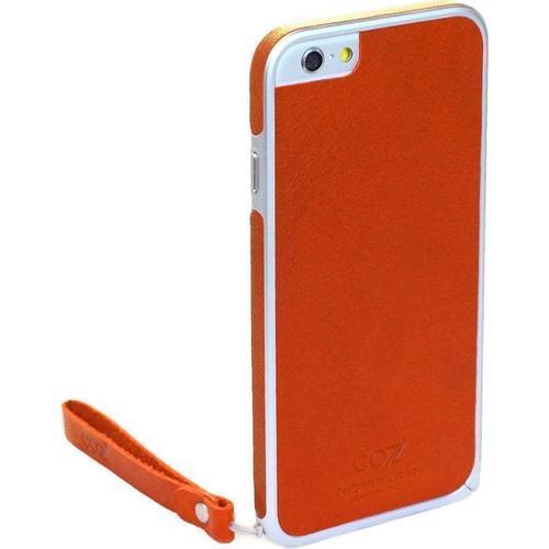 "Бампер со стикером ""Leather Skin Bumper"" для iPhone 6 оранжевая кожа"