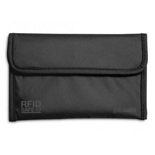 Кошелек RFIDsafe 50, черный кожаные карманы мужских мальчиков кредо удостоверения личности держатель кошелька кошелек ap американский долларовый кошелек