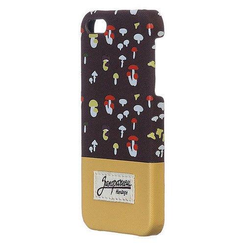 Чехол Грибочки для iPhone 6 коричневый
