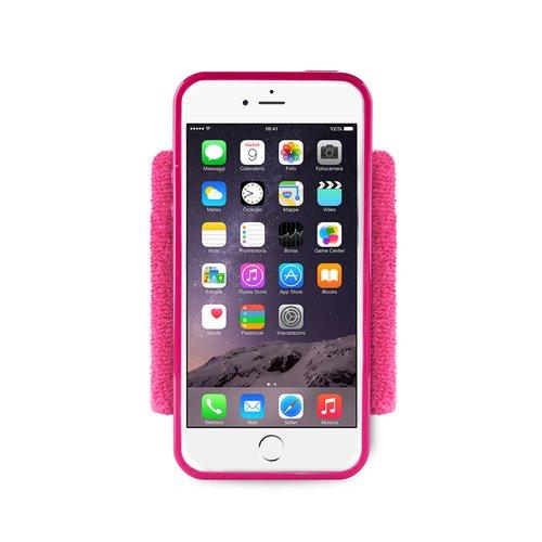 Спортивный чехол для iPhone 6 с отделением для ключей розовый чехол