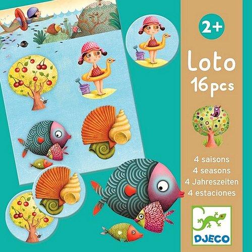 Купить Лото 4 сезона , Djeco, Игры для детей