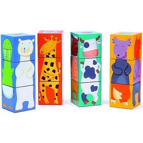 Кубики Животные игра настольная набор кубиков животные на ферме
