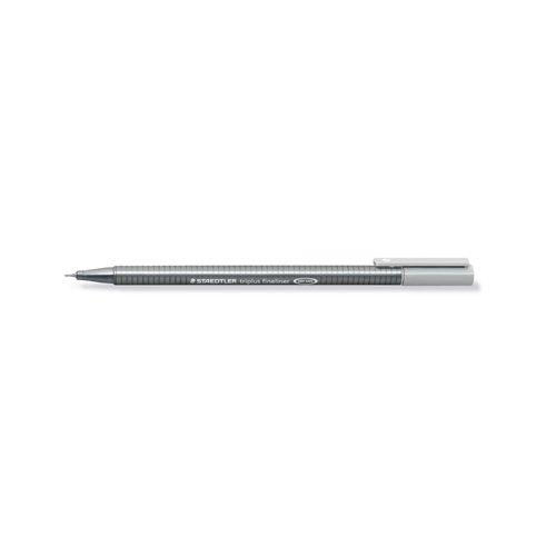 """Ручка капиллярная трехгранная """"Triplus 334"""", 0,3 мм, серебристая цена в Москве и Питере"""