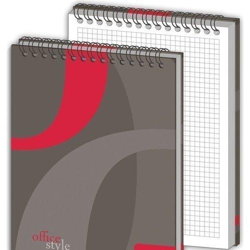 Блокнот в клетку Attache А5 красный блокнот attache fantasy a6 80 листов orange 309371