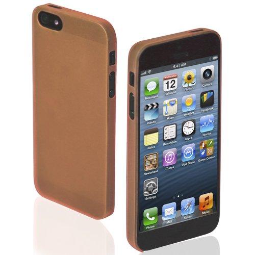 Чехол для iPhone 5/5S Extra Slim оранжевый чехол для iphone 5 5s зебра
