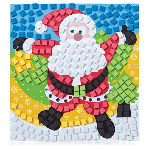 Мозаика Christmas Santa alloy sequins santa christmas brooch