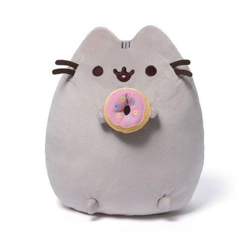 Купить Мягкая игрушка Pusheen With Donut , Gund, Мягкие игрушки