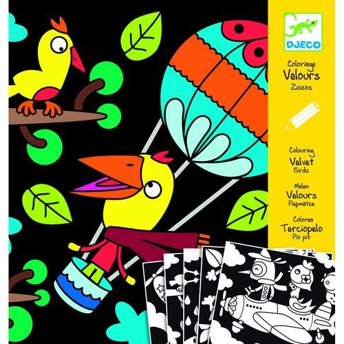 Бархатные раскраски Птицы