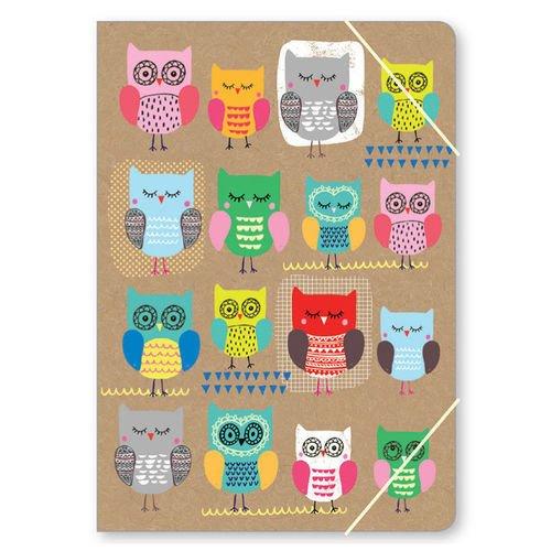"Папка ""Owls Рatchwork Кraft"" А4 owls 1997 calendar"
