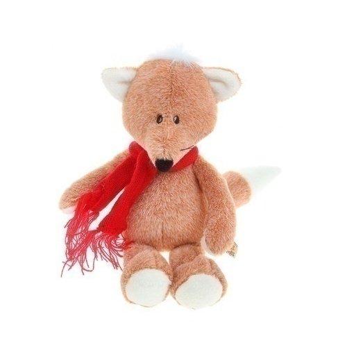 Мягкая игрушка Лисенок Рыжик в шарфике, 20 см gulliver игр мягкая мишка с вельветовыми вставками в шарфике 24см
