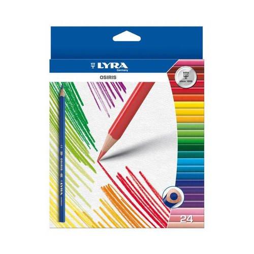 Цветные лакированные карандаши Osiris, 24 цвета карандаши цветные акварельные osiris aquarell 12 цветов