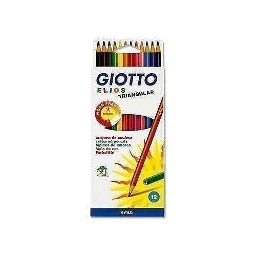 """Цветные пластиковые карандаши """"Elios Tri"""", 12 цветов карандаши восковые мелки пастель giotto elios tri цветные пластиковые 12 шт"""