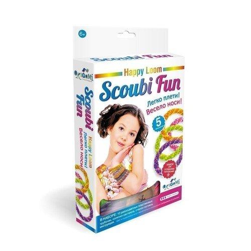 Набор для плетения браслетов Happy Loom. Scoubi Fun набор для плетения браслетов simple fun 200 шт светящиеся в темноте