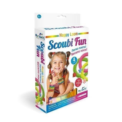 Набор для плетения браслетов Happy Loom. Scoubi Fun украшения simple fun набор для плетения браслетов simple fun loom светящиеся 200 шт