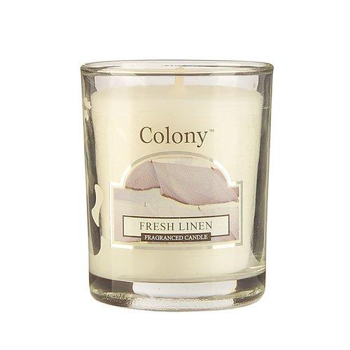 Свеча ароматическая лампадная Свежий лен свеча ароматическая лампадная wax lyrical альпийский лес 16 часов горения