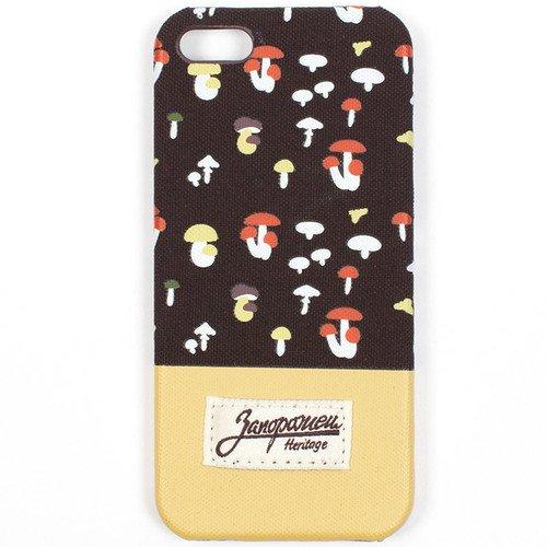 Чехол Грибочки для iPhone 6+ коричневый