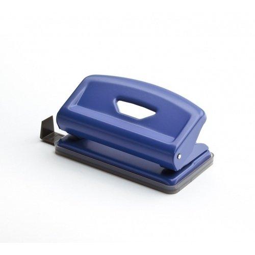 Дырокол F Mini синий дырокол толщина прокола до 15 листов с линейкой пластиковый корпус ассорти
