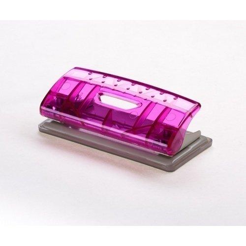 Дырокол Mini Transparent розовый дырокол толщина прокола до 15 листов с линейкой пластиковый корпус ассорти